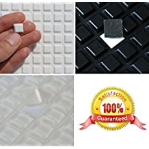 3M de goma Pies Bumpons ~ 10mm x 10mm x 2mm altura ~ negro, transparente o blanco ~ cuadrado muebles protectores trapezoidal tapones, blanco
