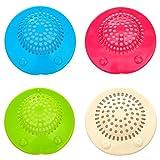 4 pièces universel coloré souple en silicone ventouse en caoutchouc Cups Bouchon...