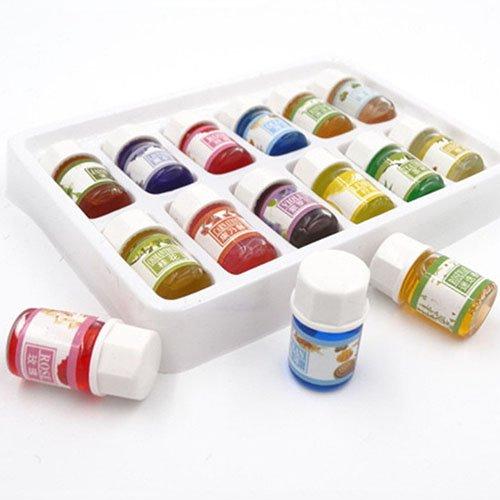 yibenwanligod ätherisches Öl Set (12 x 3ml), 12 reine Öle inkl. Lavendel, Jasmin, Rosmarin, Osmanthus, Teebaum, Veilchen, Sandalw -