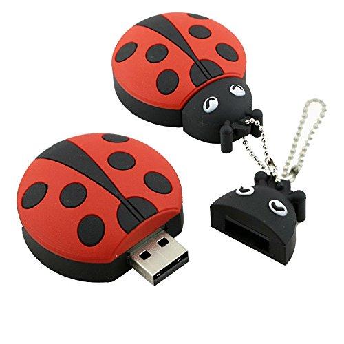 Marienkäfer USB-Stick Käfer Geschenk Memory Stick Pendrive Marienkäfer Pen Drive Personalisiert
