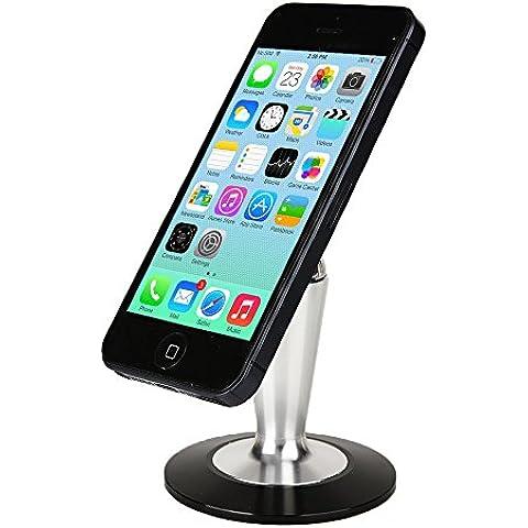 Soporte Asus ZenPad C 7.0 (Z170C/Z170CG/Z171CG/Z170MG) de sobremesa Cooper Pedestal de metal para teléfono y tablet (Base antideslizante; bola de cuero magnética; rotación de 360º; almohadilla adhesiva reutilizare)