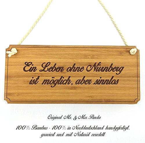 Mr. & Mrs. Panda Türschild Stadt Nürnberg Classic Schild - Gravur,Graviert Türschild,Tür Schild,Schild, Fan, Fanartikel, Souvenir, Andenken, Fanclub, Stadt, Mitbringsel