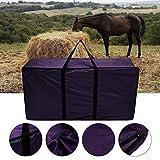 QYWSJ Heuballen-Aufbewahrungstasche, extra große Tragetasche für Heuballen, faltbares tragbares Pferd, Heuballentaschen für Vieh mit Reißverschluss, wasserdicht, für Reitausrüstung