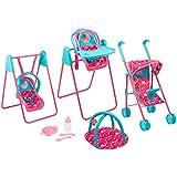 Disney Doc McStuffin Play & Go Travel Set Girls Toy Dolls Pram Highchair Swing