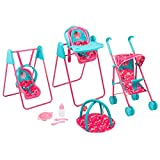 Disney Doc McStuffin Play & Go Travel Set Girls Toy Dolls Pram Highchair Swing (Toy)