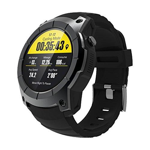 SODIAL Android iOS telefonos S958 Elegante Reloj Deportivo Impermeable Pulso Monitor GPS 2G SIM Tarjeta comunicacion Moda Elegante Reloj Negro