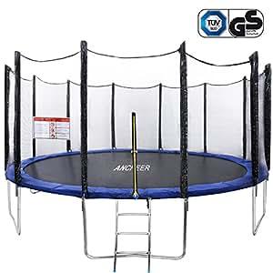 Ancheer Trampoline de fitness Indoor Garden Jumping rebounder pour Aerobic et exercices (Taille: 91–137cm), 427 CM