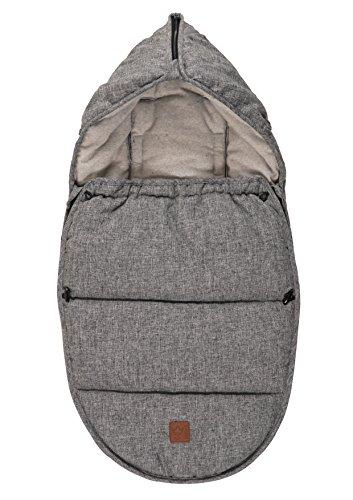 kaiser-65385225-hoody-chanceliere-pour-siege-de-bebe-coton-fleece-melange-gris
