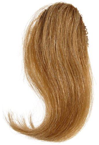 Extension per capelli a clip, realizzata con capelli umani, con frangia laterale, colore 27, castano chiaro