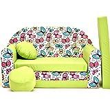 Die besten Schlafsofa Matratzen - Z36-B Kindersofa Ausklappbar Schlafsofa Couch Sofa Minicouch 3 Bewertungen