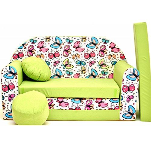 Z36-d bambini divano pieghevole divano letto divano sofa mini couch 3in 1baby set + sedia per bambini e cuscino + materasso