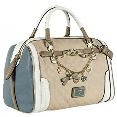Guess Sac a Main Amour Box Satchel Sand Multi