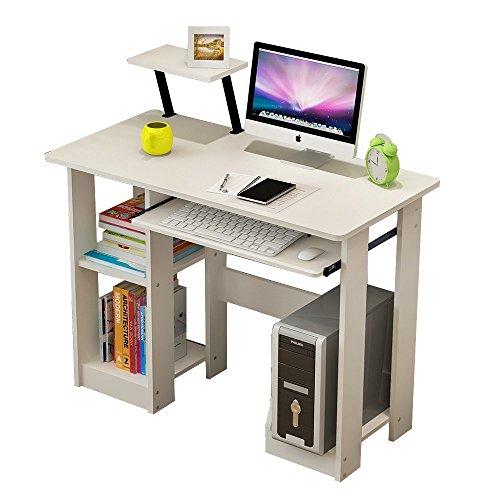 Escritorio madera blanco tu quieres - Mesas de escritorio de madera ...
