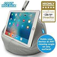COSY HOLDER® - Pumpkin Beanbag Cushion - Tablet & E-Reader (e-book) holder/stand. Ideal for iPad, Samsung Galaxy, Kindle & Books. Holds your device at ANY viewing angle. Ideal for home or travel