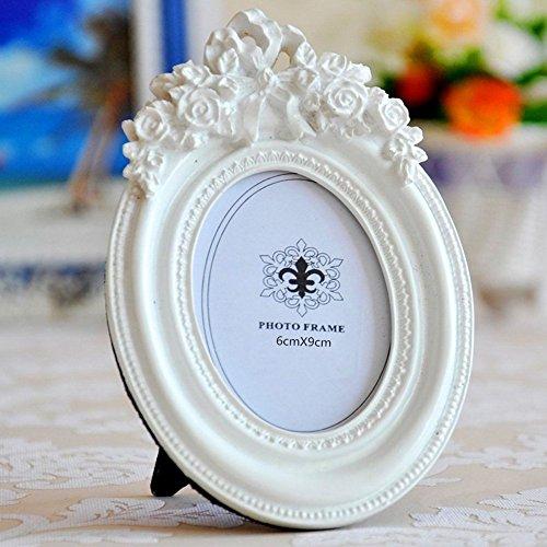 Giftgarden 6x9 Bilderrahmen Oval weiß Dekorahmen Geschenke Freunde