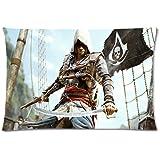 Neuf Assassins Creed IV Noir Drapeau Taie d'oreiller Drap housse 45,7x 66cm