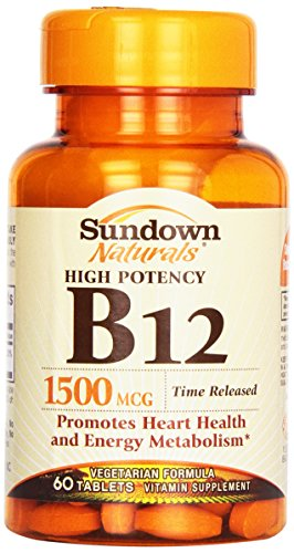 High Potency B12, Time Release, 1500 mcg, 60 Tabletten - Rexall Sundown Naturals -