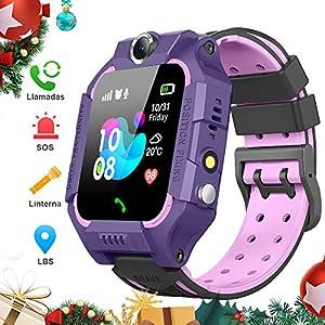 BANLVS Smartwatch Niños, 2019 Nuevo Reloj Inteligente Niños con Flashlight, IP67 LBS SOS, Cámara, Smartwatch con Ranura… 9