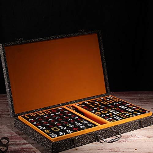 Traditionelle Holzschnitzerei (Mahjong Set, Massivholz Box Verpackung Traditionelle Chinesische Schrift Holzschnitzerei 144 Traditionelle Mahjong, Geeignet Für Familientreffen/Sammlung Geschenke (3,9 * 2,9 * 1,8 CM) (Color : 5))