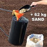 Walze Rasenwalze Handwalze Gartenwalze aus Metall, befüllbar – POW 63890 - 5