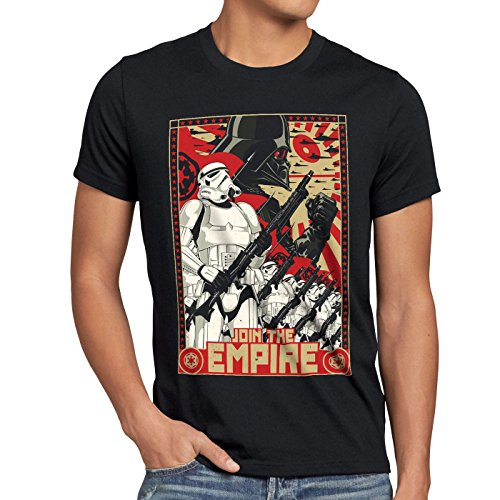 A.N.T. Join the Empire Herren T-Shirt imperium sturmtruppen, Größe:L (Star Wars Shirt)