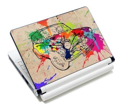 MySleeveDesign Notebook Skin Aufkleber Folie Sticker für Geräte der Größe 10,2 Zoll / 11,6 - 12,1 Zoll / 13,3 Zoll / 14 Zoll / 15,4 - 15,6 Zoll mit VERSCH. DESIGNS - Colored Car