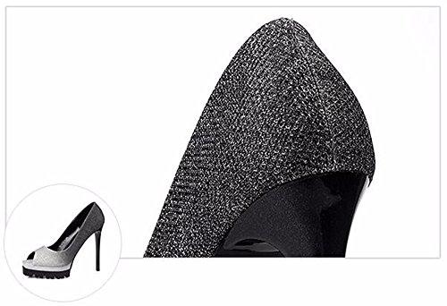 FLYRCX Impermeabilizzazione europea pad sexy colore rastremata belle e poco profonde lady tacco alto scarpe di partito C