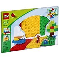 LEGO Duplo 2198 - 3 Bauplatten, rot/grün/gelb