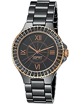 Esprit Collection Damen-Armbanduhr Isis Tetra Analog Quarz Keramik EL101322F11