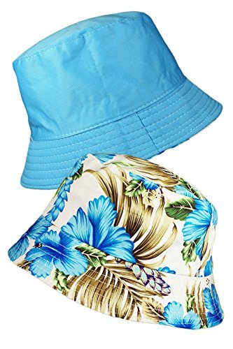 TOSKATOK® LADIES WOMENS REVERSIBLE COTTON RETRO FLORAL BUSH BUCKET SUN HAT Test
