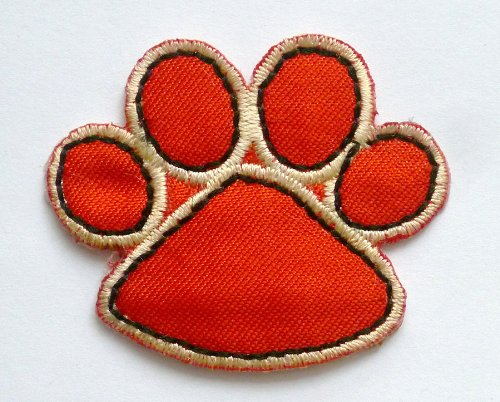 Red Paw Print Iron / Sew On Embroidered Patch from ChewyBuy