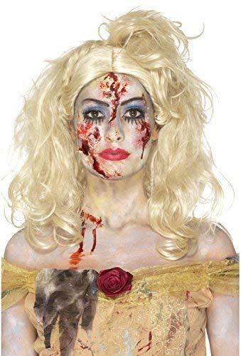 Fancy Me Halloween Zombie Prinzessin Gedreht Märchen Unheimlich Make-Up Spezialeffekte Make-Up Kostüm Kleid Outfit Zubehör Set (Halloween-make-up Unheimlich Zombie)