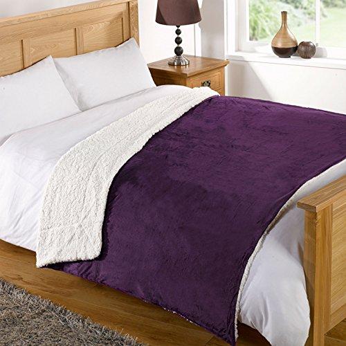 just-contempo-sherpa-viola-200-x-240-cm-poliestere-aubergine-purple-200-x-240-cm