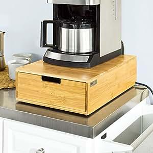 sobuy frg83 n grande bo te capsules de caf th porte capsules distributeur de capsules. Black Bedroom Furniture Sets. Home Design Ideas