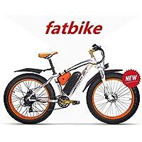 RICH BIT ZDC-022 Bicicleta eléctrica 1000W 48V 17AH para Ciclismo, con Guardabarros, Naranja