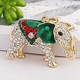 Fightalongside Regalos creativos Coreano Pop Elefante Llavero de aleación Señoras Bolsa de aleación de Cristal