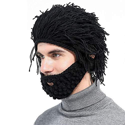 YXMxxm Bluetooth Barbar Hut, Wireless 4.2 Kopfhörer Winter Lustiger Hut, Abnehmbare Kopfhörer Eingebautes Mikrofon für Männer Frauen Outdoor Sports (2 Stücke)