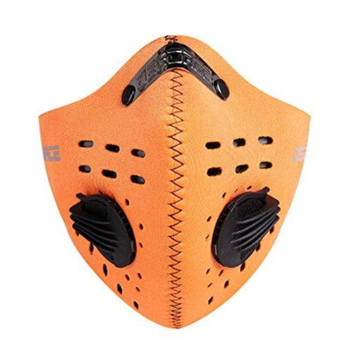 à la poussière et coupe-vent Masque de ski Cyclisme Moto Demi masque visage, mixte, Orange