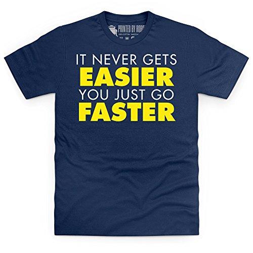 It Never Gets Easier T-Shirt, Herren Dunkelblau