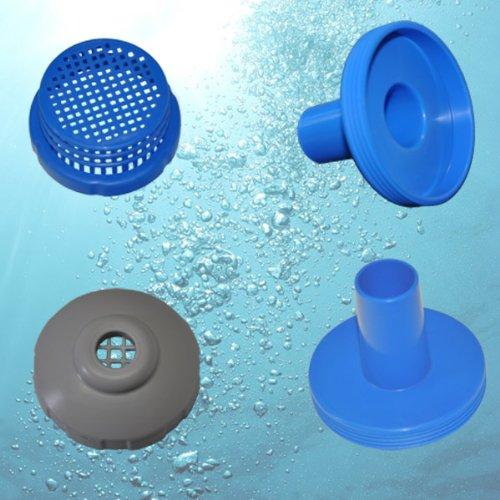 Intex Pool-Anschluss-Stutzen Ø 32 mm, Koppler für Anschluss von Pumpen an Quickup Pools (11070)