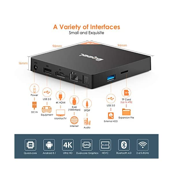 Bqeel-Android-81-TV-Box-4GB64GB-Bluetooth-40-TV-Box-Y5-Amlogic-S905X2-Quad-Core-64bit-Wi-FI-24G58G-LAN1000M-80211-abgnAC-Gigabit-4K-Android-Smart-TV-Box