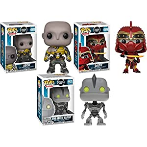 Funko POP Ready Player One Aech Daito The Iron Giant Stylized Vinyl Figure Bundle Set NEW