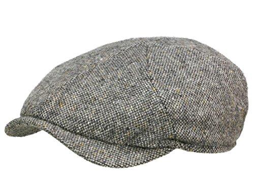 Wigens Newsboy Magee Slim Cap Sportmütze aus Lammwolle - Grau (907) - 55 cm