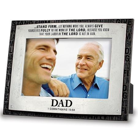 Dad Foto Rahmen mit Bibel Vers. Inspirierende Geschenk für Väter Tag Foto Geschenk 1Korinther standhalten.