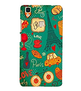 Fabcase love paris toast wine tea cup car floral byclcle bird ephilff tower Designer Back Case Cover for Vivo V3Max