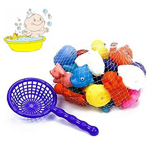 10PCS Juguete Baño Bebe  Juguetes Animados con Sonidos Toy Diverdidos Lindos para Agua Piscina Baño