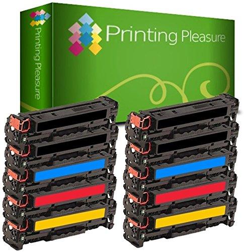 Printing Pleasure 10 Toner kompatibel zu CF210X-CF213A 131X/131A für HP Laserjet Pro 200 Color M251N M251NW MFP M276N M276NW Canon MF8230Cn MF8280Cw - Schwarz/Cyan/Magenta/Gelb, hohe Kapazität (Tonerkassette Hp 131)