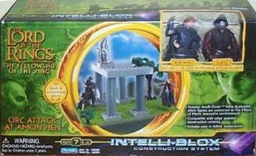 Lord OF THE RINGS, Television Arts/Ehrenpreis of the Ring, ORC Attack at Amun Hen, Bau System intelli-blox Spielzeug-Set by Playmates - Intelli Set