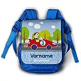 Striefchen® Kinderrucksack für Jungen - Rennauto - mit Namen und Gruppe des Kindes