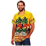UINGKID Herren T-Shirt Kurzarm Slim fit Hawaiihemd Stag Beach Hawaii Print Party Sommerurlaub Phantasie Bluse